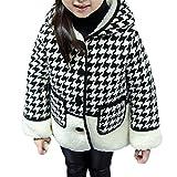 Snone女の子 可愛い 子供服 千鳥格子 コート 防寒保温 フード付き コート トドラー キッズ ジュニア ガールズ