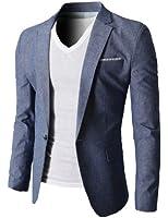 H2H Mens Fashion Linen Blazer of Various Colors Single Button