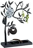 St. Leonhard Dekorativer Schmuckbaum schwarz aus Vollmetall, Höhe 27cm (mit Standfuß 30cm)