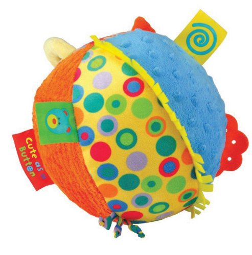 Kids Preferred Label Loveys Chime Ball, Cute as a Button