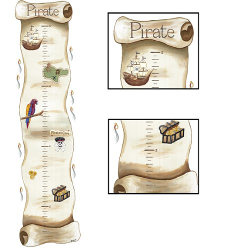 Pirate Ship Map Growth Chart Sherri Blum Wall Sticker - 1