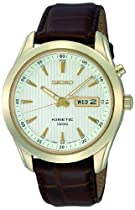 Seiko Kinetic Leather Mens Watch SMY110