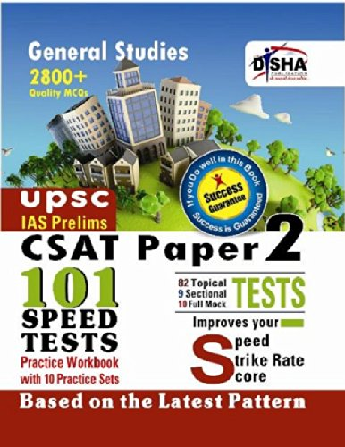 CSAT IAS Prelims 101 Speed Tests Practice Workbook with 10 Practice Sets - Paper 2
