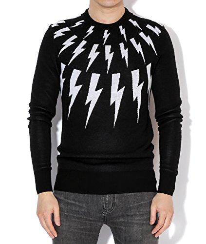 neil-barrett-mens-knit-thunder-pattern-pullover-s-black