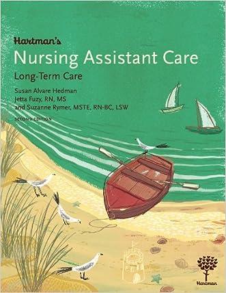 Hartman's Nursing Assistant Care: Long-Term Care, 2e written by Susan Alvare Hedman
