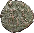 ARCADIUS crowned by Victory 395AD Rare Ancient Roman Coin Chi-Rho Christ i27906