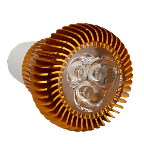 Gu10 6W 110-240V High Power Focus Led Spotlight Bulb Gold,Warm White Light Lamp Bulb