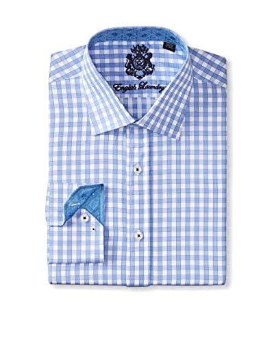 English Laundry Men's Gingham Long Sleeve Shirt