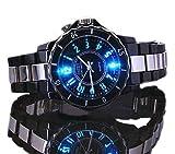 OHSENデザイン腕時計 ブラック 超軽量