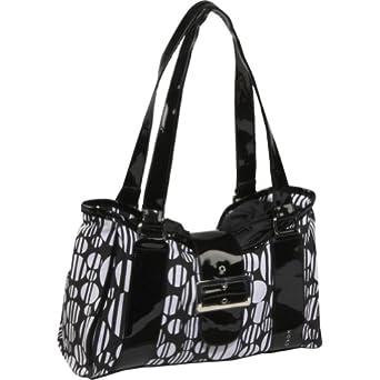 Koko Patty Lunch Bag, Black Stripe Dot