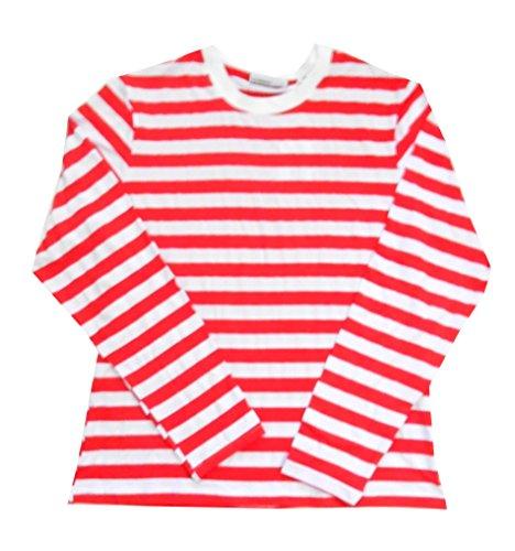 Red/White Striped Crew Neck LG