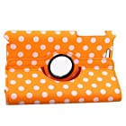 Generic Google Nexus 7 (The First Generation 2012 Model)Tablet Case - Orange Polka Dots Pattern PU Leather Auto Wake/Sleep Smart Cover with Multi-Angle Stand