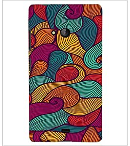 PrintDhaba Pattern D-2061 Back Case Cover for MICROSOFT LUMIA 540 (Multi-Coloured)