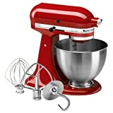 51yMOkvg7dL. SL160  KitchenAid 4 1/2 Quart Ultra Power Stand Mixer, Empire Red