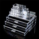 Double Layer Beauty Vanity Jewellery Clear Acrylic Make Up Cosmetic display Stand and organizer rack, holders can be used for make up brush sets, jewelery, arts and craft by KurtzyTM