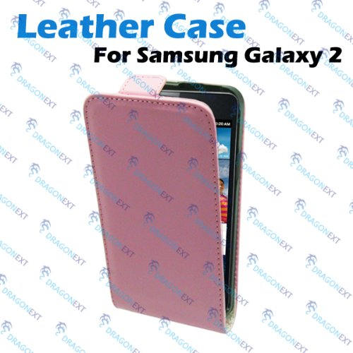 Pink Easy Clip On Vertical Leather Flip Case Pouch Skin