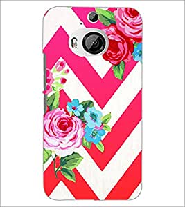 PrintDhaba Flowers D-1176 Back Case Cover for HTC ONE M9 PLUS (Multi-Coloured)
