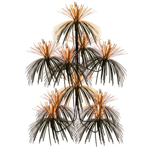 Firework Chandelier (orange & black) Party Accessory  (1 count) (1/Pkg)