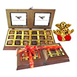 Chocholik Premium Gifts - 18 PC Delightful Chocolate Box With Small Ganesha Idol - Gifts For Diwali