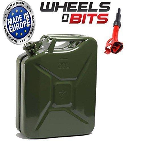 jerrican-de-20-litres-vert-militaire-a-lhuile-leau-carburant-diesel-de-reservoir-a-essence-avec-bec-
