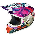 Fly Racing Kinetic Fly-Bot Youth MX/Off-Road/Dirt Bike Motorcycle Helmet - Pink/Purple/Orange / Medium