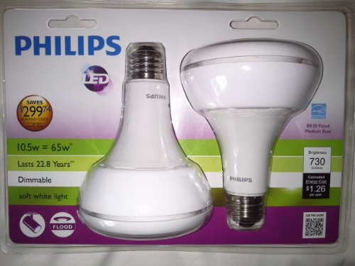 Philips Br30 Flood LED 10.5w=65w Dimmable Two