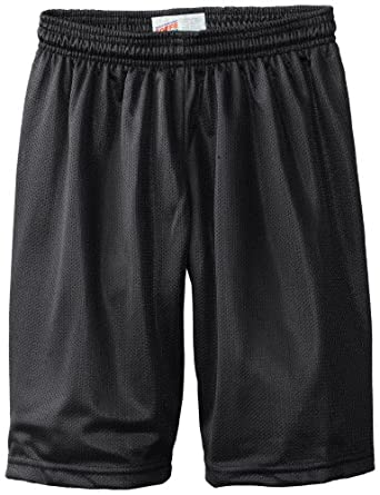 Soffe Big Boys' 7 Inch Poly Mini Mesh Short, Black, X-Small