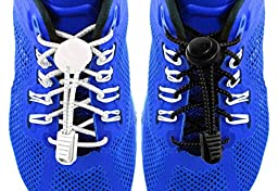 2 Pair of Elastic Shoe Laces Ties Your Feet Into Your Favorite Shoes, for All Leisure Activities, Marathons, Triathlons, Sports, Handy for Kids-two Pair of Durable Laces and Bonus Extra Clips.
