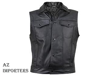 AZ Importers - Gilet - Uni - Sans manche - Homme Noir Noir