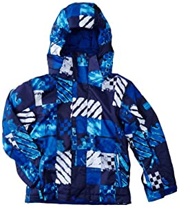 Quiksilver Boy's Mission Atom Snow Jacket - Blue, 10 Years