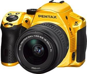 Pentax K-30 SLR-Kamera (16,5 Megapixel CMOS-Sensor, 7,6 cm (3 Zoll) LCD-Display, Full HD, USB 2.0) mit 18-55mm DAL Objektiv Kit Crystal Yellow