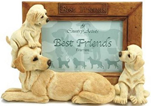 Retired Country Artists 3-Dimensional Yellow Labrador (Labradors, Labs) Dogs Photo Frame