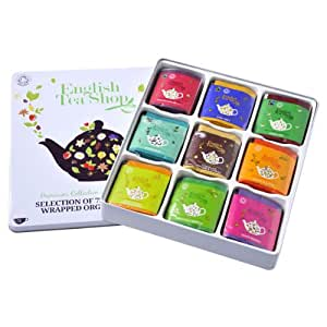 English Tea Shop Assorted Fairtrade and Organic Tea Bags Gift Tin (72 Sachets)