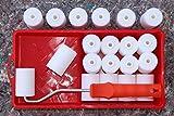 PROFI Lackier Set: 10 Schaumwalzen superfein gerade 5 cm für perfekte Lackierungen + GRATIS Farbwanne + GRATIS Farbroller Bügel - Lackrollen Malerwalzen