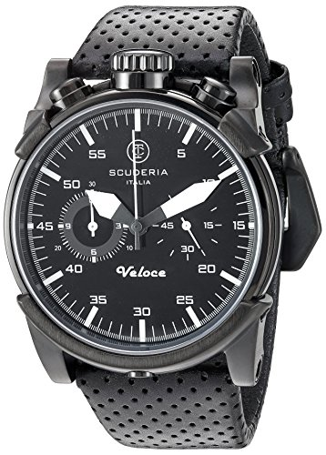CT-Scuderia-Mens-CS10111-Touring-Analog-Display-Swiss-Quartz-Black-Watch