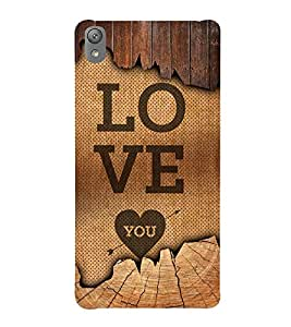 Love You 3D Hard Polycarbonate Designer Back Case Cover for Sony Xperia E5 : Sony Xperia E5 Dual