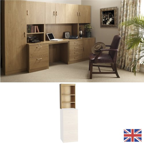 Home Office Furniture - Fully Assembled - Overshelf- Hutch - English Oak - Wood Effect... FOR USE IN: study bedroom lounge conservatory WE ALSO MAKE: cupboard plan chest hideaway desk draw drawers table free standing computer unit skirting clearance