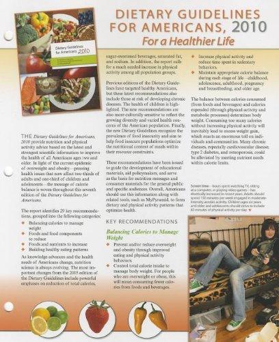Dietary Guidelines (2010) Update Resource