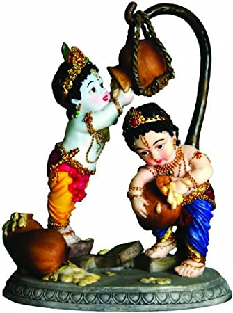Adorable Krishna Balaram Buttertheif Statue