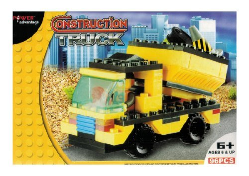 Power Advantage - 96 Pc Construction Building Blocks Set - Truck