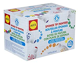 ALEX Toys Artist Studio 6 Dots and Dashes Sponge Tip Painters
