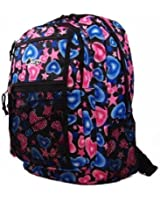 New Girls Womens Chervi Hearts School College Hand Luggage Travel Backpack Bag