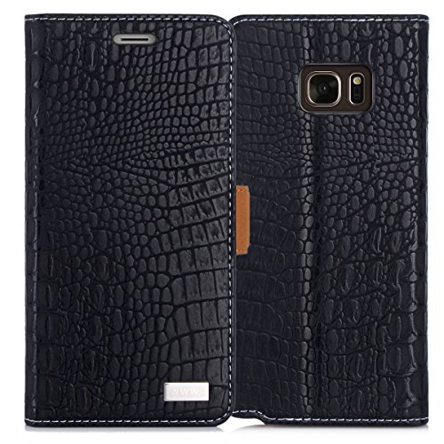 03. Galaxy Note 7 Case, Note 7 Case, WWW [Crocodile Pattern] Premium PU Leather Wallet Case Flip Phone Case Cover with Card Slots