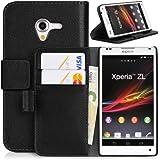 DONZO Wallet Structure Étui pour Sony Xperia ZL L35h noir
