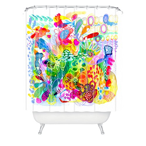 Deny Designs Stephanie Corfee Painted Garden Shower Curtain front-388008