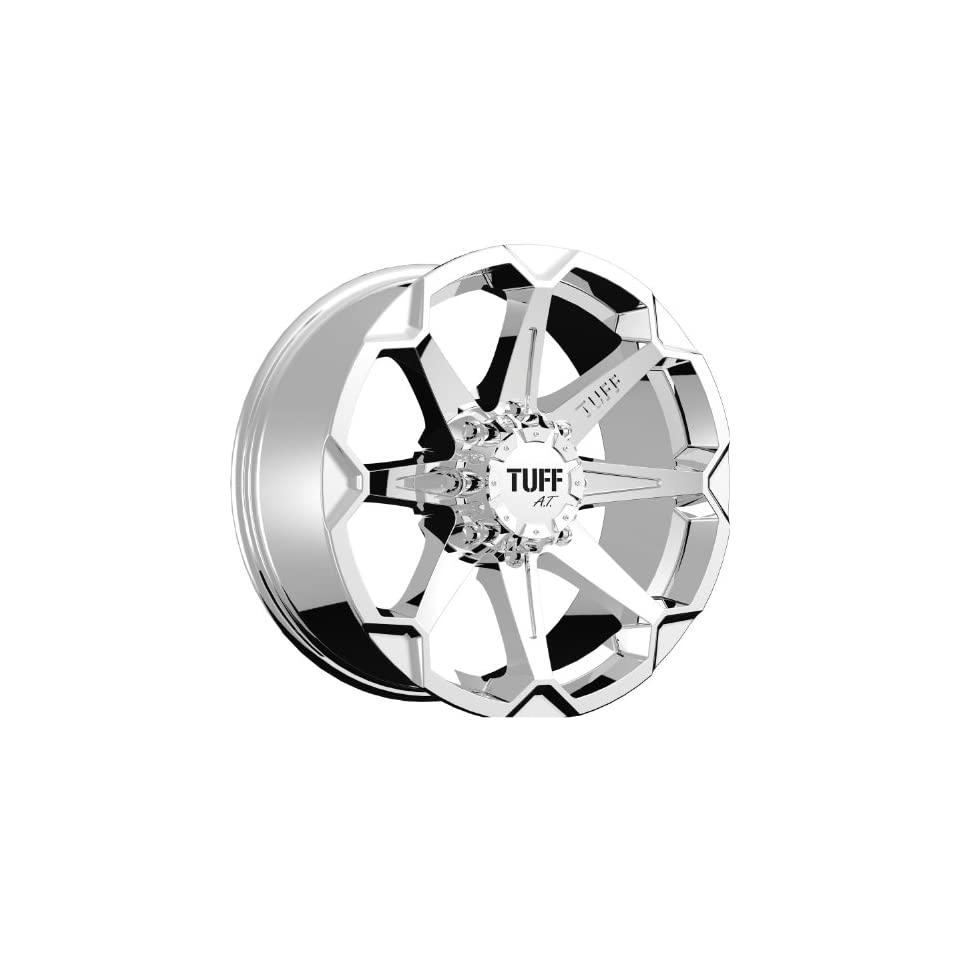 Tuff T05 17 Chrome Wheel / Rim 5x135 & 5x5.5 with a 10mm Offset and a 87.1 Hub Bore. Partnumber T05GM5LM10C87 Automotive