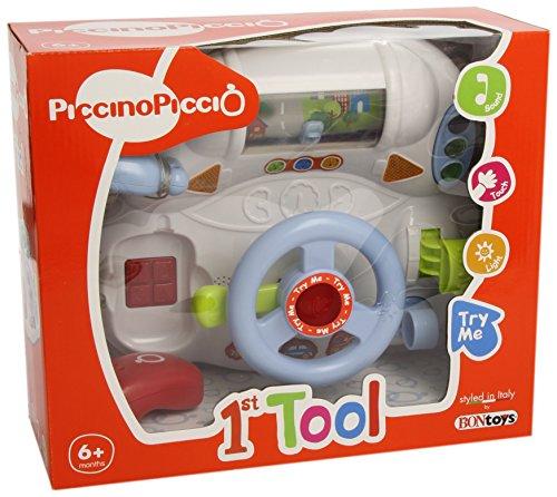 Bontempi - Tablero de mandos con volante para bebé, juguete con sonido (BDB 9332)