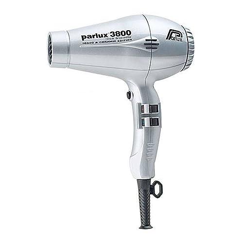 Parlux 3800 - Secador de pelo profesional de cerámica con iones, respetuoso con el medio ambiente, color plateado