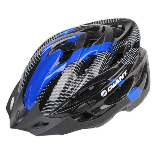 GIANT ジャイアント  軽量ヘルメット アジャスターサイズ調整可能!【並行輸入品】 (ブラック/ブルー)