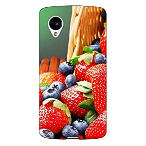 Jugaaduu Strawberry Love Back Cover Case For Google Nexus 5
